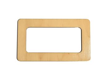 Mâner din lemn, natural / 17x10 cm