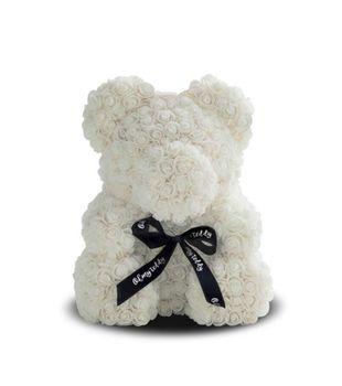 купить Медведь из белых   роз 40 см в Кишинёве