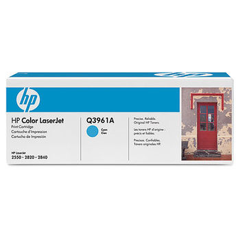 HP Color LaserJet 2550/2820/2840 Print Cartridge, Cyan (4000pages) Q3961A