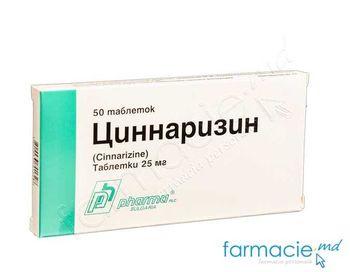 купить Cinnarizin comp. 25 mg N50 в Кишинёве