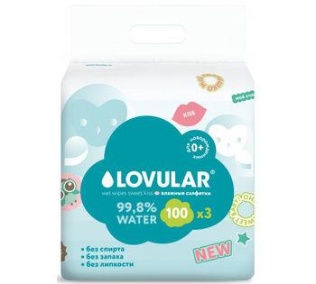 Влажные салфетки Lovular Sweet Kiss (3x100 шт)