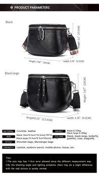 купить Mодная боковая сумка из натуральной кожи, женская сумка через плечо. в Кишинёве