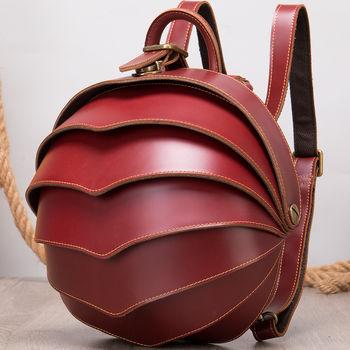 купить Кожаный рюкзак   для женщин, винтажный женский рюкзак в Кишинёве