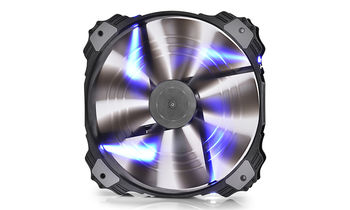 "200mm Case Fan - DEEPCOOL ""XFAN 200"" Fan with Blue LED, 200x200x32mm, 700rpm, <26.3dBa, 86.57CFM, sleeve bearing, rubber de-vibration design, Big 4Pin and 3Pin Molex"