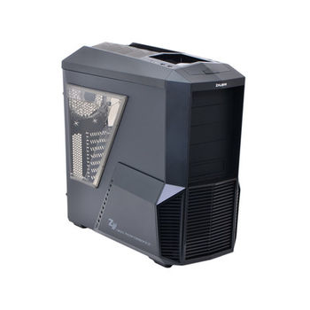 "ZALMAN ""Z11 PLUS"" ATX Case, with Side-Window, without PSU, Tool-less, 5 fans pre-installed (2x 120mm Blue LED fan, 1x 120mm fan, 2x 80mm fan), 3-in-1 Bracket Provided, Bottom mounted PSU, 2xUSB3.0, 2xUSB2.0 /Audio, Black"
