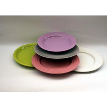 Farfurie ceramica desert 20 cm, diverse culori