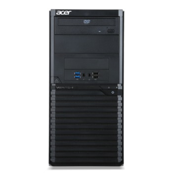 cumpără Acer Veriton M2640G (DT.VPRME.015) Intel® Core® i3-7100 3.9 GHz, 8GB DDR4 RAM, 1TB HDD, no ODD, Cardreader, Intel® HD 630 Graphics, 250W PSU, FreeDOS, USB KB/MS, Black, 3 Year Warranty în Chișinău