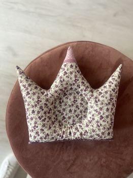 Подушечка корона в цветочек