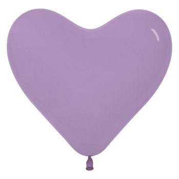 купить Шар в форме Сердца , цвет Светло-фиолетовый- 25 см в Кишинёве