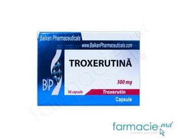 купить Troxerutina caps. 300 mg  N10x3 (Balkan) в Кишинёве