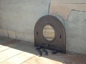 Дверца чугунная со стеклом PIZZA 6