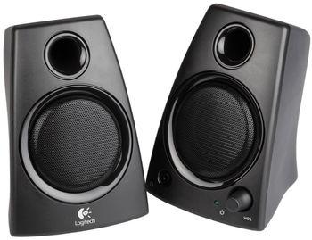 Logitech Z130 Speakers 2.0 ( RMS 5W, 2x2.5W ), Stereo headphone jack, Black