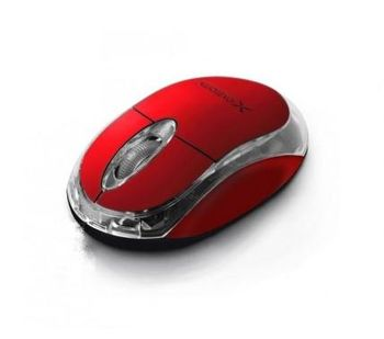Extreme HARRIER XM105R Optical Mouse, 1000DPI, USB, Red