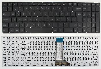 """Keyboard Asus X502 X551 X553 X554 X555 F551 P551 A553 D550 D553 R556 R512 F555 K555 A555 w/o frame """"ENTER""""-big ENG/RU Black"""
