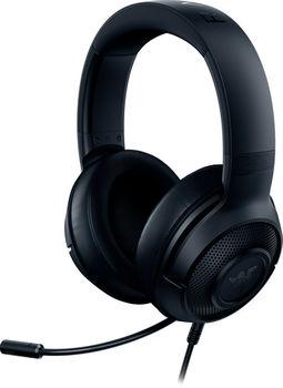 RAZER Kraken X USB Gaming Headset, Bendable Cardioid Microphon, 7.1 Surround Sound, 40mm neodymium driver units, On-headset Controls, USB, Black