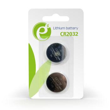 Gembird Button cell CR2032, 2pcs, High performance and long lifetime