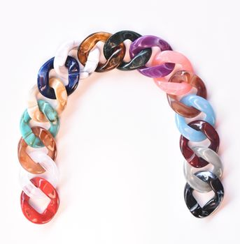 Lanț acrilic, 35 cm / multicolor