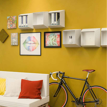 cumpără Cutie decorativă de perete 440x440x215 mm, alb în Chișinău