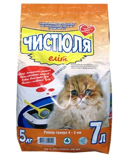 купить Наполнитель для кошачьего туалета ЧИСТЮЛЯ Элит в Кишинёве