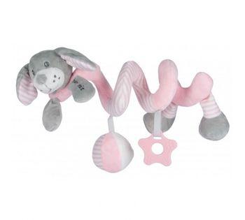 купить Спиралька для коляски Baby Mix розовая в Кишинёве
