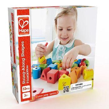 купить Hape Деревянная игрушка Шнуровка с геометрическими фигурками в Кишинёве