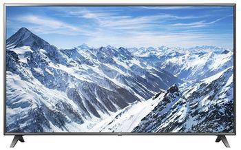 "75"" LED TV LG 75UK6500, Black, 3840x2160 (4K), SmartTV (webOS), HDR10 Pro, PMI 1700GHz, ULTRA Surround, HbbTV, Color Enhancer, Clear Voice III, RMS 2x10W, HDMIx3, USBx2, WiFi(ac)+Lan+BT, S/PDIF, DVB-T2/C/S2/CI+, Vesa 200x200"