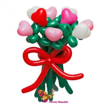 купить Букет цветов из цветных сердец в Кишинёве