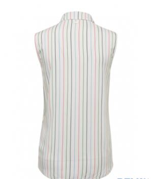 Блуза TOM TAILOR Белый в полоску