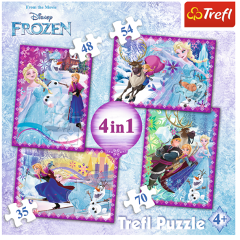 "Puzzles ""4in1"" -Winter frenezie / Disney Frozen, cod 40560"