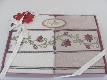 cumpără Prosoape pentru fata CORONET HOME (2 bucati) intr-o cutie cadou, Turcia în Chișinău