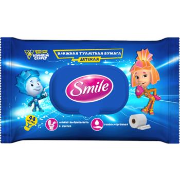 купить Влажная туалетная бумага для детей Smile Фиксики, 44 шт. в Кишинёве