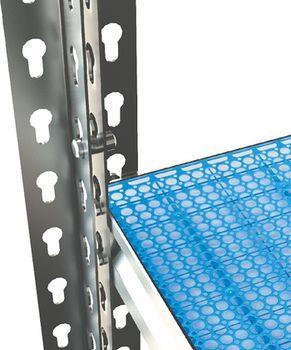 купить Стеллаж металлический с пластиковой плитой Moduline 1195x505x2130 мм, 6 полок/PLB в Кишинёве