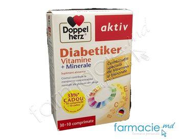 купить Diabetiker Vitamine+Minerale comp. N30 + 10 Cadou Doppelherz в Кишинёве