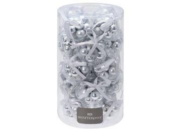 cumpără Set globuri 12X30mm, 3 design, cu banda, argintii în Chișinău