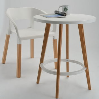купить Журнальный столик из пластика и дерева 600x700 мм, белый в Кишинёве