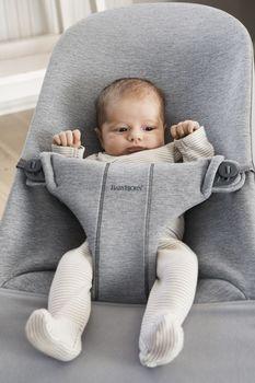 купить Кресло-шезлонг BabyBjorn Bliss Light Grey 3D Jersey в Кишинёве
