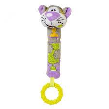 Игрушка-пищалка с прорезывателем Кот