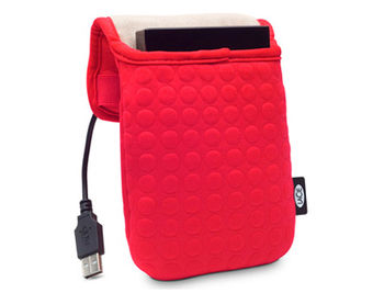"LaCie Coat 3.5"" red, notebook or tablet 7""-13.3"", Design by Sam Hecht, Bubble protection, 130892 (husa HDD extern/husa laptop/чехол для ноутбука)"