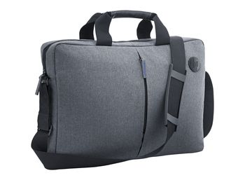 "HP NB bag 15.6"" - Value Top Load, Made with durable materials for everyday use including weather resistant fabric, padding woven into side and back, detachable shoulder strap and robust carrying handles, 400 x 280 x 65 mm, Grey"