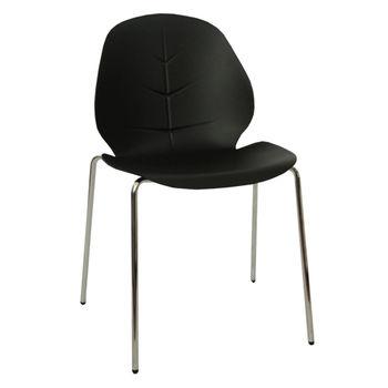купить Пластиковый стул, хромированные ножки 505x505x815 мм, черный в Кишинёве