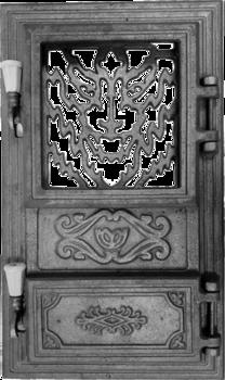 Дверь прямоугольная под стекло для печи