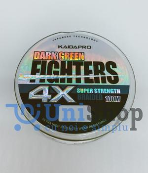 Шнур KAIDA PRO FIGHTERS Dark Green 4x100м 0.20мм