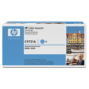 HP Color LaserJet 5500/5500N/ 5500DN/5550/5550N/5550DN Smart Print Cartridge, Cyan C9731A