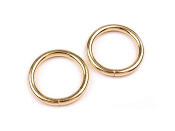 Inel metalic, Ø25 mm, auriu