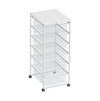 cumpără Container corpus cu 6 boxe 1020x430x490 mm, alb în Chișinău