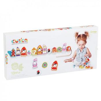 купить Cubika Деревянная игрушка шнуровка Гномы в Кишинёве