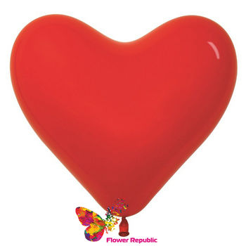 купить Шар в форме Сердца , цвет  Красный - 25 см в Кишинёве