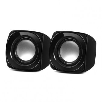 Speakers SVEN 120 Black (USB),  2.0 / 2x2.5W RMS, USB power supply, Volume control on the cable
