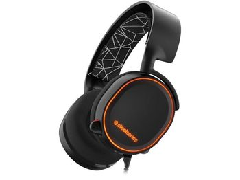 STEELSERIES Arctis 5 / Gaming Headset with retractable Best Mic in Gaming, ClearCast,  7.1 Surround Sound, 40mm neodymium drivers, Prism RGB Illumination, Compatibility (PC/Mac/PS/VR/Mobile), Cable lenght 3.0m, USB+3.5mm jack, Black