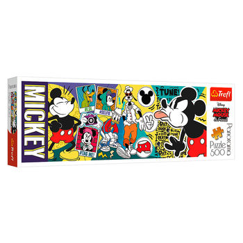 """Пазлы """"500 Panorama""""-""""The legendary Mickey Mouse / Disney Mickey Mouse and Friends"""", код 42193"""
